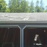 New shingles on garage